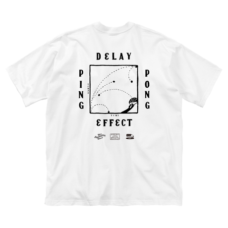 CHALKBOY x astrollage DELAY T-SHIRTS WHITE(ink: BLACK)