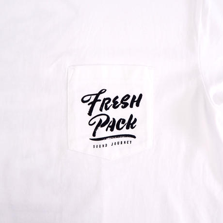 Fresh Pack T-SHIRTS WHITE(ink: BLACK)