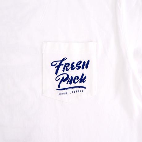 Fresh Pack T-SHIRTS WHITE(ink: NAVY)