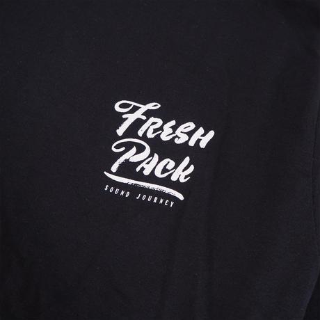 Fresh Pack LONG T-SHIRTS BLACK(ink: WHITE)