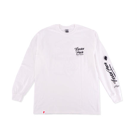 Fresh Pack LONG T-SHIRTS WHITE(ink: BLACK)
