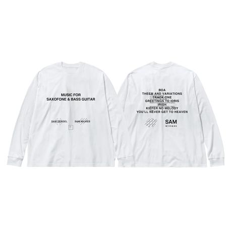 SAM GENDEL & SAM WILKES / Music For Saxofone & Bass Guitar Long Sleeve T-shirts(ホワイト)