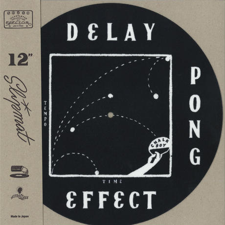 """CHALKBOY x astrollage 12"""" SLIPMAT DELAY(BLACK & WHITE)"""