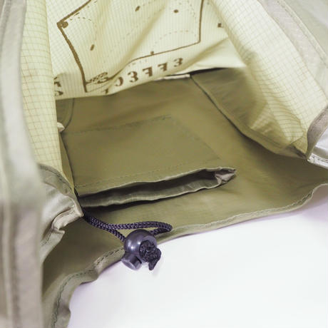 CHALKBOY x astrollage DELAY SHOPPING BAG MOSS(ink: WHITE)