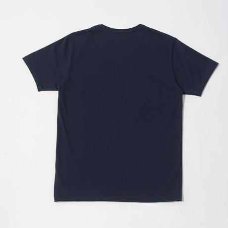 STELLAR CONFLICT天竺 S/S T-SHIRT Vネック NOBLE NAVY