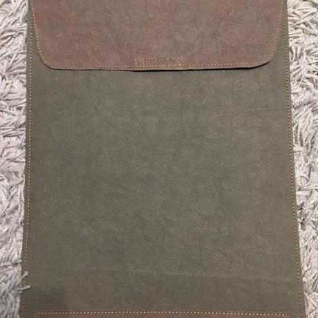 ウォッシャブルペーパー書類ケース(オリーブ✖︎ブラウン)全10色