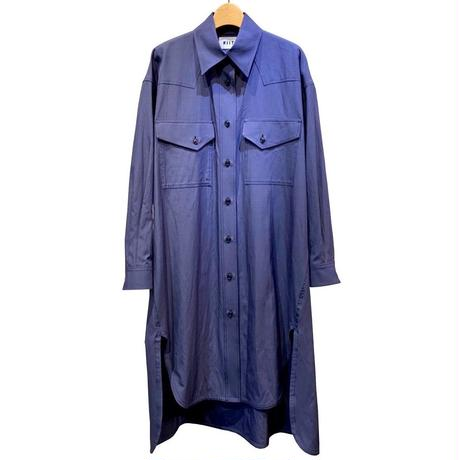 COTTON/RAYON GABARZINE OVER SHIRT ONE-PIECE