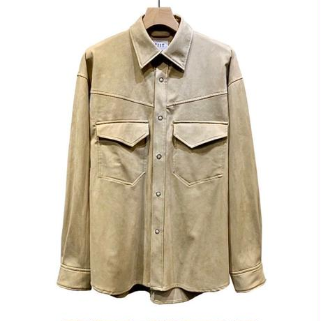 ECO SUEDE SHIRT JACKET