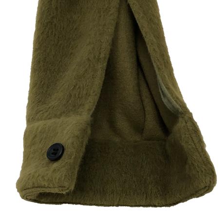 W/AC SHAGGY PILE HALF ZIP SHIRT JKT
