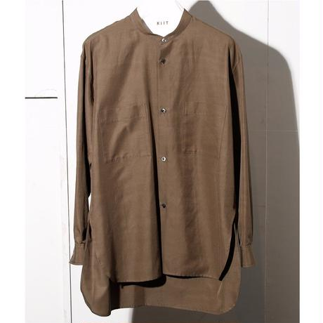 C / SI  GROSGLAIN  BAND COLLAR  LOOSE  SHIRTS