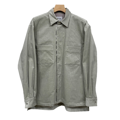 10 WELL STRETCH CORDUROY ZIP UP SHIRT JKT
