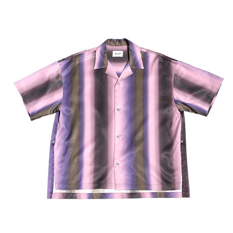 RAYON/COTTON GRADATION PRINT S/SLEEVE SHIRTS