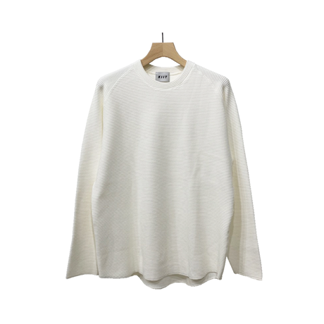 COTTON STRECH WAFFLE PULLOVER