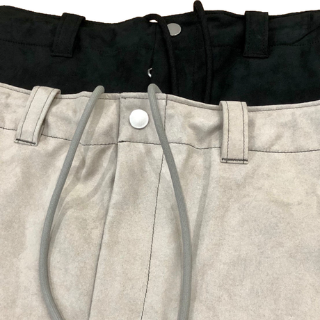 SUEDE CLOTH SHORTS