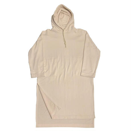 NYLON / COTTON PILE HOODIE ONE-PIECE