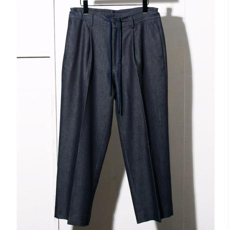 INLAY  DENIM  KNIT  EASY  WIDE TROUSER