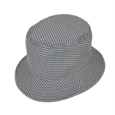 REVERSIBLE HAT (W/E SEERSUCKER MAICRO CHECK × HIGH QUALITY NYLON)