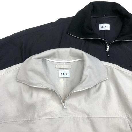 HIGH COUNT NYLON WEATHER CLOTH HIGH NECK PULLOVER SHIRT