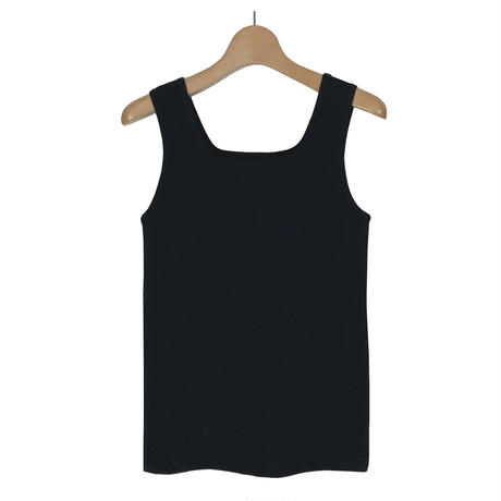 HARD TWIST JERSEY SPECIAL FINISH SQUARE NECK TANK TOPS