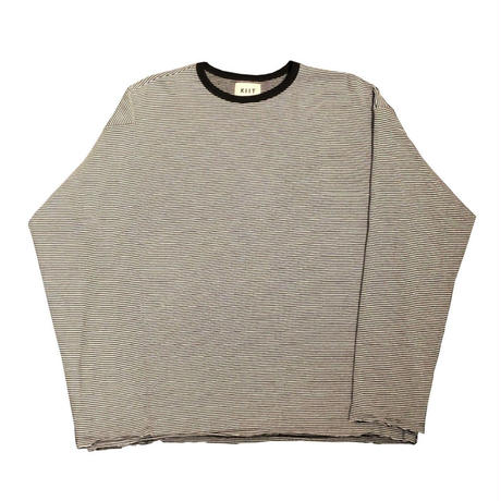 20/1×30/2 COTTON NARROW BORDER L/SLEEVE TEE