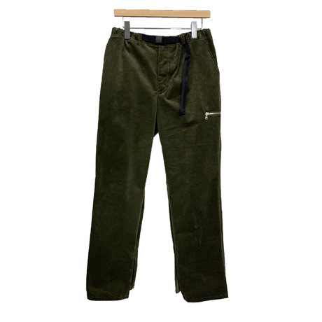10 WELL STRETCH CORDUROY BELTED SLIT WORK PANTS