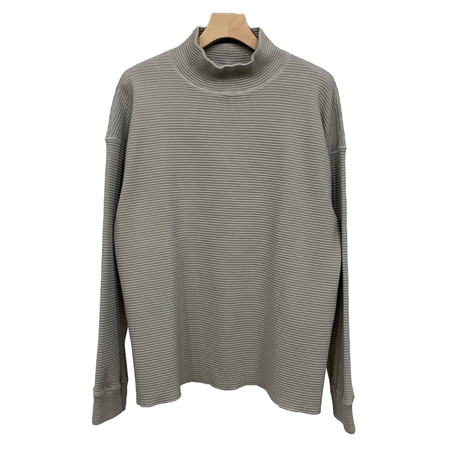 COTTON STRETCH  WAFFLE TURTLE NECK PULLOVER