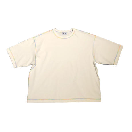 COTTON STRONG TWIST YARN RAINBOWSTICH S/S TEE