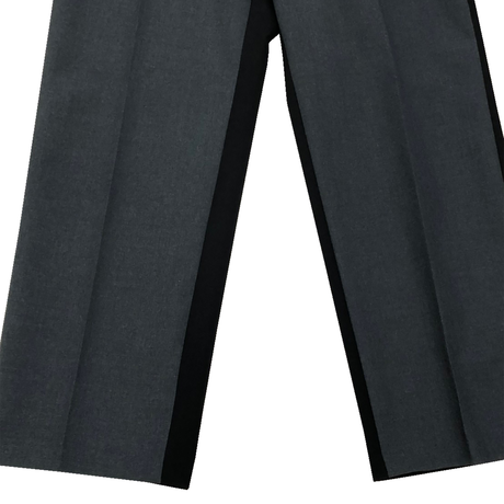 W/E WORSTED WEAVE COMBINATION LOOSE FIT CENTER CREASE TROUSERS