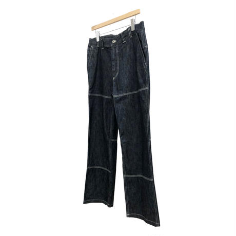 WASHABLE HERRING BONE DENIM WORKER PANTS