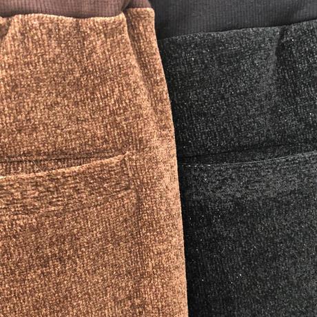 E/C/N/PU MOLE PILE RELAX PANTS