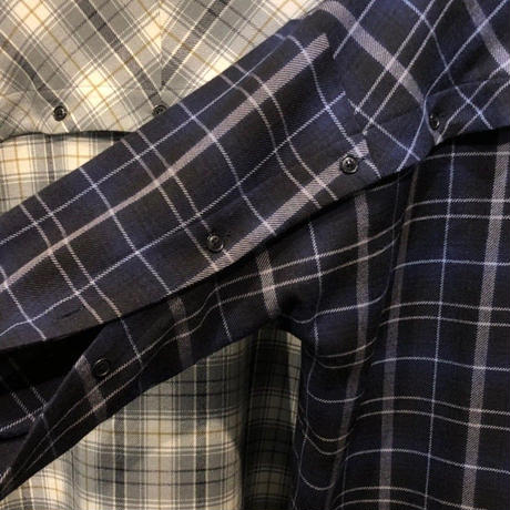 PURE WOOL CHECK OVER SHIRT