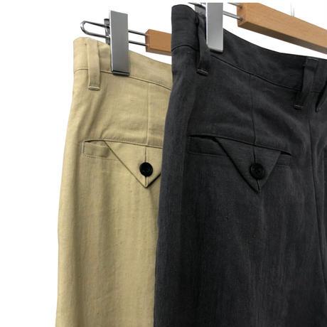 Li/N HIGHCOUNT CLOTH 2TUCK TROUSERS