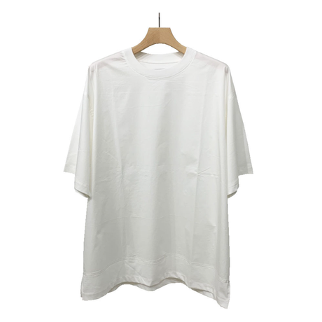 COMBINATION OVER SIZED TEE (COMPACT TWILL STRETCH × FINE COTTON )