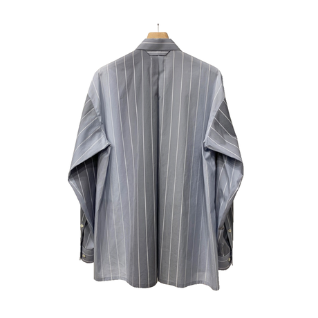 100/2 BROAD GRADATION STRIPE ZIP UP SHIRT