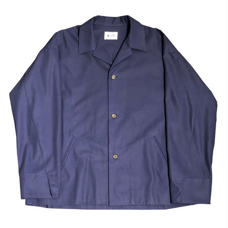 COTTON GABARDINE OPEN COLLAR JKT