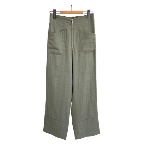 Li/C TWILL FRONT ZIP EASY PANTS