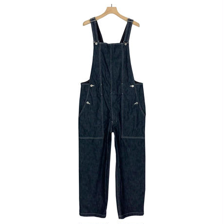WASHABLE HERRING BONE DENIM OVERALLS