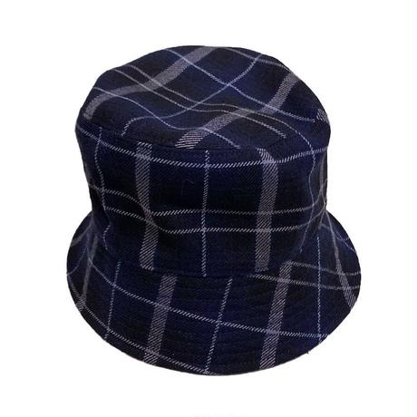 MASACA HAT × KIIT  COLLABOLATTION  HAT PURE WOOL CHECK  BUCKET HAT