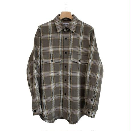 HEAVY FRANNEL CHECK OVERSIZED CPO SHIRT