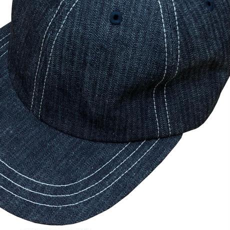 HERRING BONE DENIM 6 PANEL CAP