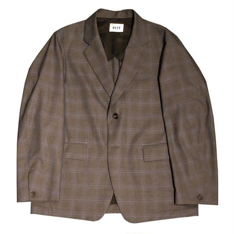 SUPER 140'S WOOL TROPICAL CHECK 2B TAILORED JKT