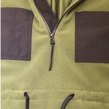 POLARTEC FLEECE WIND PRO HALF ZIP BLOUSON