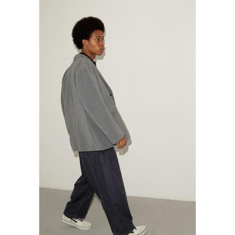 P / PU  W CLOTH  2WAY  STRECH  LOOSE TAILORED JKT