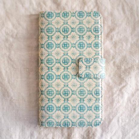 ポルトガルタイル 手帳型スマホケース【iPhone用】