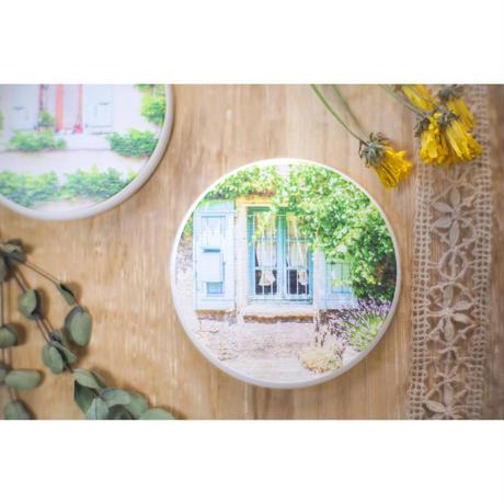 フランスの窓辺 珪藻土コースター 2個セット