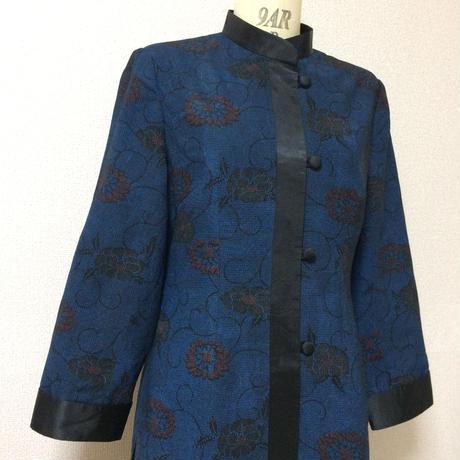 チャイナ風ロングジャケット(着物リメイク)