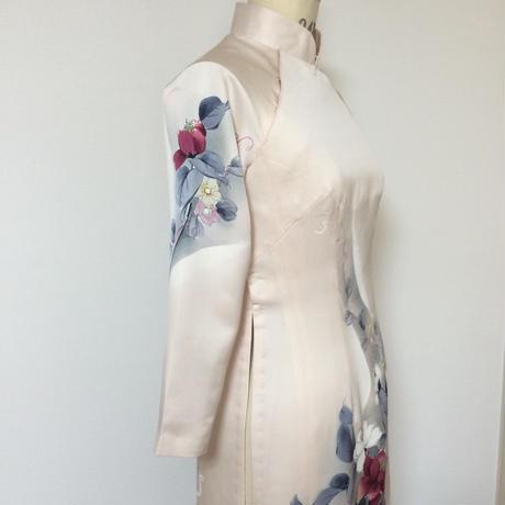 七分袖のアオザイ(着物リメイク)