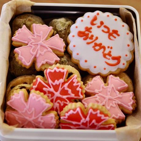 母の日 クッキー缶