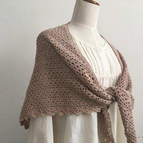 方眼編みの簡単三角ストール