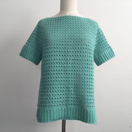 方眼編みで編む春夏用プルオーバー